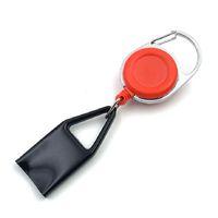 1шт премиум красочный резиновый светло-коричневый корпус пластиковый светлый поводка клип к брюкам выдвижная катушка металла брелок светлый держатель ZZE5166