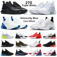 الثلاثي الأبيض 270 رجل الاحذية الصبار unc فولت الأسود أنثراسايت بالكاد روز جامعة الأحمر الأزرق العنب النمر الزيتون 270s الرجال النساء المدربين رياضة رياضية 36-45