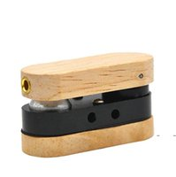 Faltende Holzrohr Hand Tragbare Faltbare Raucherrohre Doppelschicht Multicolor-Rohr im Freien Kleine Rauchen Zubehör FWC6537