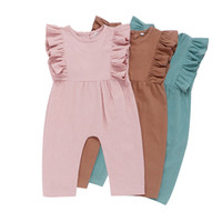 Kids Casual Jumpsuits 3 Colors Cotton Linen Onesies Infant G...