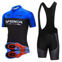 Orbea Ekibi Bisiklet Kısa Kollu Jersey Önlüğü Şort Setleri Nefes Hızlı Kuruyan Moda Slim Fit Açık Spor Giyim Ropa Ciclismo U82030