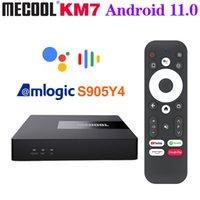 Mecool KM7 Amlogic S905Y4 TV Box Android 11 4GB 64GB Dual WIFI Google Certified 2GB 16GB Set TopBox PK KM6 Smart TVBox