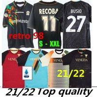 2021 2022 كرة القدم ارتداء Venezia FC الرئيسية والبعثة جيرسي آرامو فورتي فورتييلينو ماريانو جونزين مازوشيبيريتز هيمانز كرنجوي الرجعية 1998 فينيسيا ريكوبا لكرة القدم