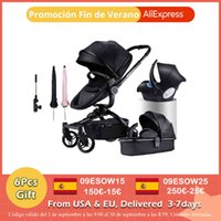 Designer Luxury Stroller Fast Aulon PU Läder Baby 3 i 1 2In1 Carriage Pram på 2021 Suit Forfödd till 3 år
