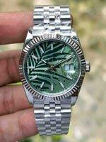 BP Factory DateJust Green Blue Dial Unisex Mens Watch 36mm Sapphire Glas Automatisk Mekanisk Rostfritt Oyster Perpetual Turkos 124300 Armbandsur