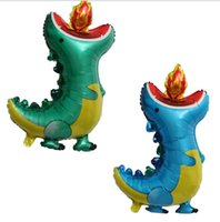 Fire-breathing dinosaur aluminum foil balloon party decoration 87.5*61cm 2 only as a set High-quality materials Can be used repeatedly Free gift Inflator