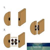 4 stks verborgen vouwen deur vat cross scharnier plastic onzichtbare verborgen scharnieren voor eettafel aansluiting meubels hardware fabriek prijs expert ontwerpkwaliteit