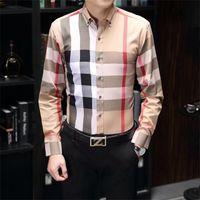 Luxurys 디자이너 드레스 셔츠 남성복 패션 사회 블랙 남성 솔리드 컬러 비즈니스 캐주얼 망 긴 소매 M-3XL # 50