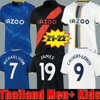 James Rodriguez Everton 2021 2022 الرجال + أطفال كرة القدم الفانيلة Sigurdsson كين ديلف Gbamin André Gomes Home 21 22 بعيدا أسود أسود قمصان كرة القدم مجموعات