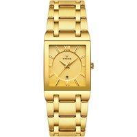 WWOOOV Новый 8858 Стальной ремень Часы Водонепроницаемый Кварцевый Календарь Мужские Бизнес-Часы