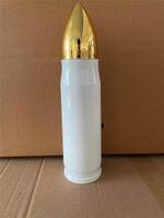 Venta al por mayor 17oz Sublimation Bullet TAP 500 ml Botellas de agua de acero inoxidable Botellas de calor Transferencia de calor Tumblers Doble Pared Aislada tazas A12