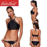 2019 New Split Bikini Black Sexy Mesh Splicing Xingcheng Swimsuit