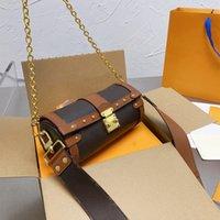 Kreuzkörper-Crossbody-Tasche Umhängetaschen aus echtem Leder Luxus Handtasche faszinierter High-Capacity-Handtaschen mit exquisiten Verpackungen und Originalkasten Größe 20-10-10 cm