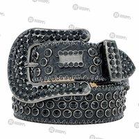 2021 Designer Belt Bb Simon Belts for Men Women Shiny diamond belt Black on Black Blue white multicolour