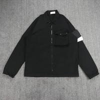 Cp topstoney 2021 novo zíper bolso jaqueta dos homens camisa masculina de rua solta ferramental lapela moda ao ar livre esportes windbreaker