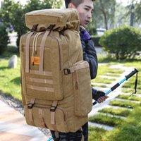 Sacos ao ar livre 70l mochila tático bolsa de lona do exército molle camuflagem viagens caminhadas camping mochila mochila militar xa258d