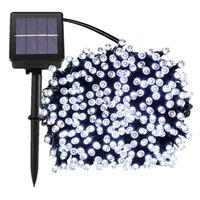 100 LEDS 200LED 300 LEDS 500LEDS 1000 LEDS Açık 8 Modları Güneş Enerjili Dize Işık Bahçe Noel Partisi Peri Lambası 7 M 12 m 22m 32 m 52m 102m
