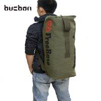 Buckon resistente lona de viagem ao ar livre viagem bagagem sacola camping caminhadas mochila mulheres homens mochila tático militar mochila hac016 210304