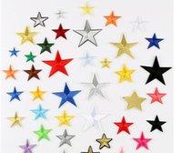 Cinco puntiagudo de la estrella Pasta de paño accesorios de parche y sombreros parches apliques planchando apliques de bordado parche y costura HWD5538
