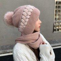 Chaude chaude hiver chapeau russion casquette filles filles godets casquette foulard foulard casquette visage shield beanie headwear cadeau nouvel an