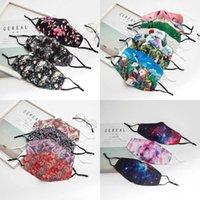 Nouveaux masques de fête design d'étoiles floraux pour hommes et femmes Cotton de mode de mode réutilisable, réglable, douce, respirant et anti-poussière