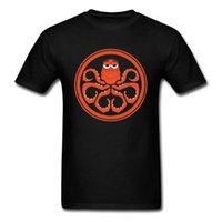 CCCCSPorthank Cthulhu Ahtapot Erkekler için Saf Pamuk T-Shirt Artı Boyutu 3XL Avrupa Tops T Gömlek Komik Tasarım Tops Tees Canavar Baskı Tshirt Tops