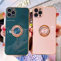 iPhone 11 Pro Max 11Promax 11Pro Max Case Luxury Plating 실리콘 마그네틱 링 커버 아이폰 11 Pro Max 11Promax 11Pro