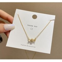 Pendant Necklaces European And American Fashion Inlaid Candy Clavicle Chain Niche Design Sweet Cool Style Ins Women Necklace