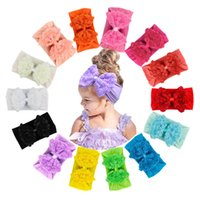 Suave cómodo elástico nylon hairband infantil color sólido gasa flores rose bowknot diadema lindo arcos de cabeza botín foto