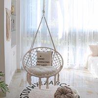 Мебель для лагеря Крытый Открытый Гамаковый стул Маграмме качели, хлопковая веревка висит качающиеся стулья, детская колыбель, домашние животные кровать