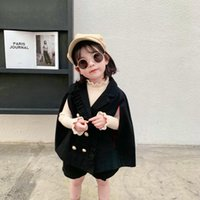 Clothing Sets Mihkalev 2021 Autumn Children Clothes Girl Fall Outfits Black Jacket+shorts 2pieces Kids Girls Child Tracksuit