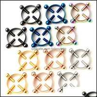 Rings Jewelrystainless Steel Round Non Piercing Nipple Ring Shield Body Jewelry Clamps For Women Drop Delivery 2021 Vuaao