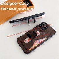 Fashion Designer Card Pocket Kickstand phone cases for iphone 12 11 Pro Max case 11P XR XSMax 7P 8P 7 8 080215
