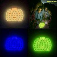 Brilho no escuro Fidget Brinquedo Bubble Board Juros Cultivo Desktop Finger Quebra-cabeça Brinquedos para Crianças Forma de Abóbora Forma Luminoso Night Light Sensory Push Bubbles Gyq