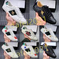 Männer Italien Bee Casual Schuhe Frauen Modeschuh Gestickte Grüne rote Streifen Tiger Schlange Paare Trainer Chaussures