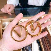 Top Paris Schmuck Zubehör Frauen Reifen Ohrringe Luxus 18 Karat Gold Ohrstecker Lady Schöne Weihnachtsgeschenk