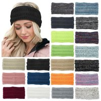 Hair Accessories Cool Women Fashion Keep Warm Knitting Headband Handmade Sport Hairband Knitted Plush Haar Elastiekjes Chouchou Cheveux Femm