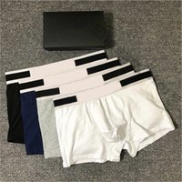 2021 Mens Designers Boxers Brands Underpants Sexy Classic Mens Boxer Casual Shorts Underwear Breathable Cotton Underwears 3pcs With Box