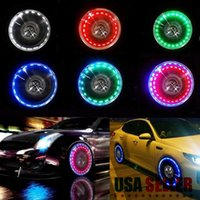 Car Headlights 15 Mode Neon Tire Wheel Well Rim LED Light Lamp For Bike Bicycle Motorcycle Solar Charging Lithium Battery Power Storage