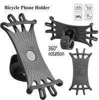 Car & Truck Racks Bike Phone Holder 360° Rotation Mount Anti Shake Silicone Bicycle Stand Accessories -40