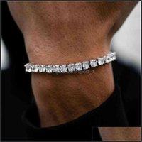 Bangle Jewelrycz Tennis Bracelet For Women Men Exquisite Fashion Charm Braclet Chain Hip Hop Bracelets No Fade Jewelry Drop Delivery 2021