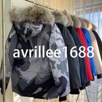 2021 Designer di alta qualità Donne Giacca da donna Inverno imbottito con cappuccio Giacche in piuma d'oca bianca per cappotto di calore esterno Colore rosso