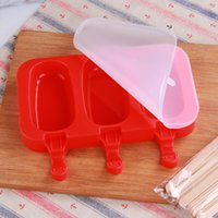 Food Grade Kids Ice Mold Oval Shape Silicone Ice Cream Mold Rabbit Bear Paw Popsicle Molds Ice Tray Cube Tools Frozen Mold KKB7867