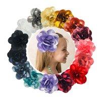 6 pouces enfant fille grosse tissu fleur pince cheveux pour garrette garrette coiffure bowknot boutique bowknot