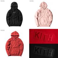 KITH BOX Hoodie Erkek Kadın 1: 1 Yüksek Kalite Nakış Kith Hoodies Tişörtü Moda Casaul KITH Kazak SH190823