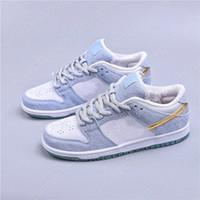 شون cliver x منخفضة برو الرجال أحذية بيضاء نفسية أحذية زرقاء ميتاليك بقع الذهب حذاء نسائي سكيت عارضة أحذية المدربين