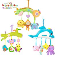 Baby Rattles Crib Mobiles Soft Plush Toys Infant Handbells Teether Musical Educational Toy 0-12 Months for Newborns Christmas Gift