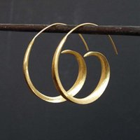 Hoop & Huggie Fashion Gold Color Silver Round Spiral Earrings For Women Girls Lady Gift Quality Jewelry