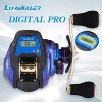 Original Lurekiller 2021 NUEVO Pantalla digital Reel de pesca electrónica Relación de engranajes 6.3: 1 Línea de perfil de bajo perfil Reel de cebo