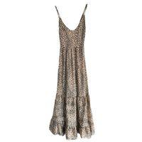 Casual Dresses Foridol Elegant Backless Lace Up Summer Dress Women Clothing Sleeveless Leopard Maxi Boho Beach Lady Long Vestido Feminino